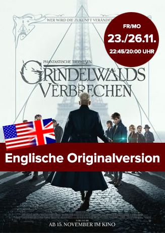 """Englische OV: """"Phantastische Tierwesen - Grindelwalds Verbrechen"""""""