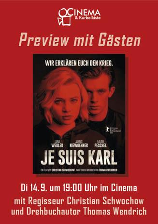Preview mit Gästen: JE SUIS KARL
