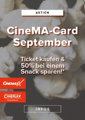 CineMa Card Monatsaktion September