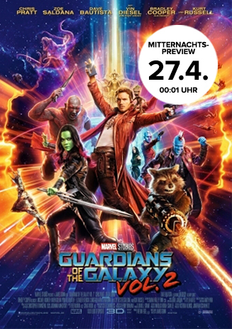 Mitternachts-Preview: Guardians of the Galaxy Vol. 2