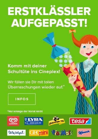 Kommt zur Einschulungsaktion ins Cineplex Bad Kreuznach