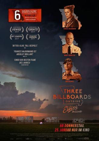 Kino für Kenner: THREE BILLBOARDS OUTSIDE EBBING, MISSOURI