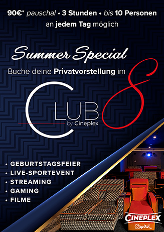 Deine Privatvorstellung im Club 8 für 90€