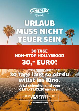 30-Tage-Ticket im Cineplex Capitol Kassel
