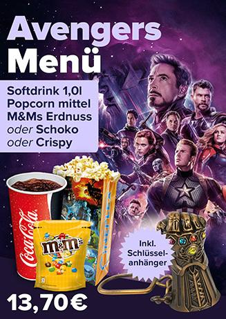 Avengers Menü