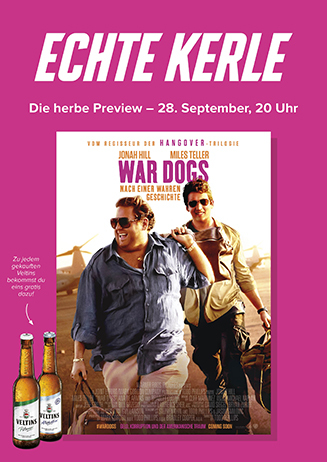 """Echte Kerle """"War Dogs"""" am 28.09.2016"""