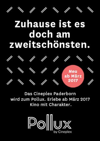 Das Cineplex Paderborn wird zum Pollux