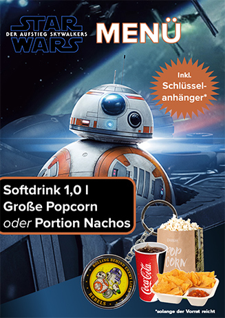 Aktions-Menü Star Wars 9 Schlüsselanhänger