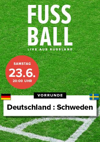Samstag, 23.6. Fußball WM Deutschland / Schweden