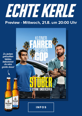 Echte Kerle Preview am 21.08.2019: Stuber- 5 Sterne Undercover