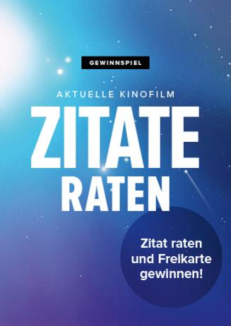 Gewinnspiel - Cineplex Zitate raten