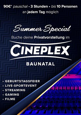 Deine Privatvorstellung im Cineplex Baunatal für 90€