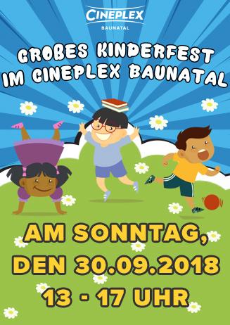Großes Kinderfest im Cineplex Baunatal