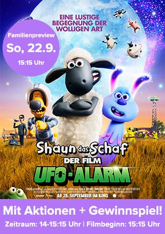 """Familienpreview: """"Shaun das Schaf - Der Film: UFO-Alarm"""""""