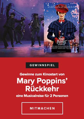 Gewinnspiel Mary Poppins' Rückkehr