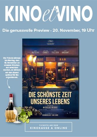 20.11. - Kino et Vino: Die schönste Zeit unseres Lebens