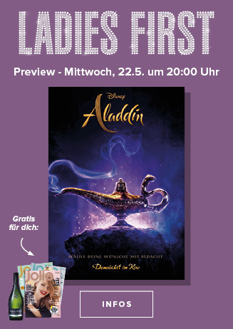 22.05. - Ladies First: Aladdin