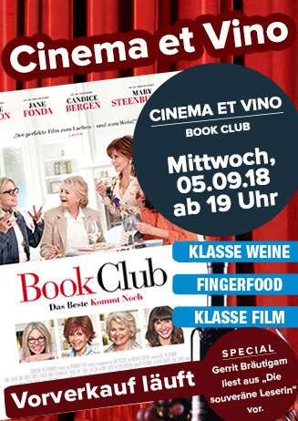 "Cinema & Vino: ""Book Club"""