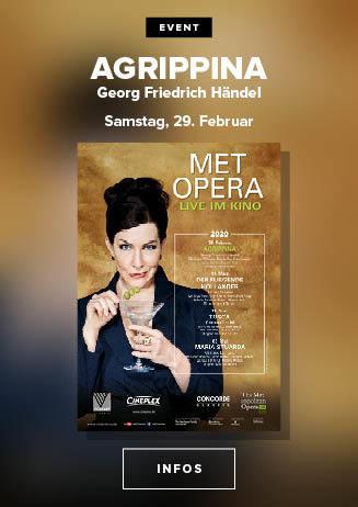 live aus der New Yorker MET: AGRIPPINA (Händel)