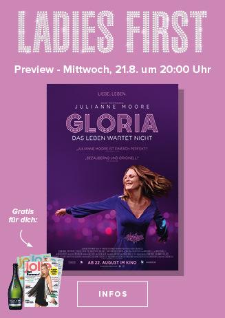 """Ladies First Preview: """"Gloria - Das Leben wartet nicht"""""""