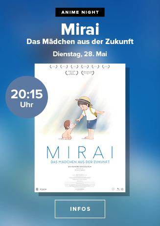 """Anime Night: """"Mirai - das Mädchen aus der Zukunft"""""""