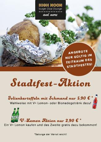 Stadtfest-Aktionen im High Noon