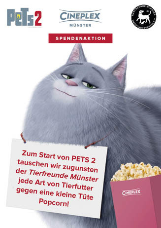 PETS 2 Tierfutter-Spendenaktion