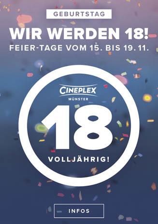 Das CINEPLEX wird 18!