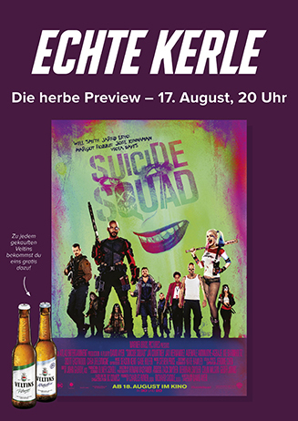 """Echte Kerle """"Suicide Squad"""", 17.08."""