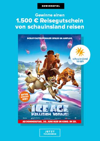 Gewinnspiel Ice Age - Schauinslandreisen
