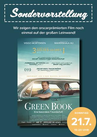 """Sonder-Vorstellung: """"Green Book - Eine besondere Freundschaft"""""""