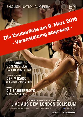 Abgesagt: English National Opera 2015/16 - Die Zauberflöte