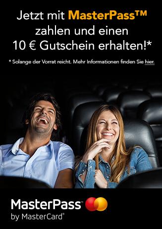Mit Masterpass zahlen und 10 Euro-Gutschein erhalten