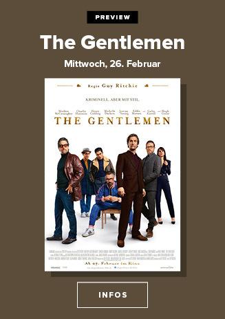 26.02. - Echte Kerle: The Gentlemen