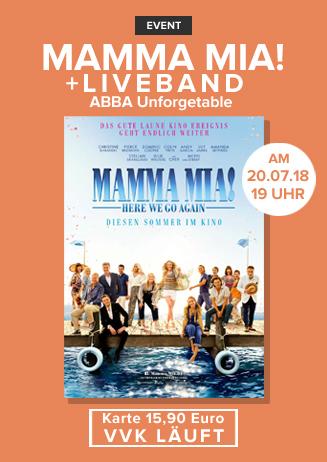 Mamma Mia! Here We Go Again Live Konzert + Film
