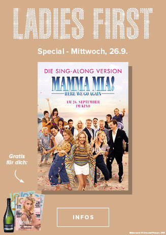 26.09. - Ladies First: Mamma Mia! Here we go again - Sing Along