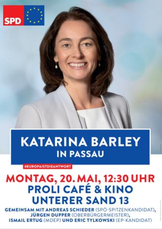 Zur Europawahl: Katarina Barley im ProLi