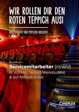 Job: Servicemitarbeiter Kino (m/w/d)