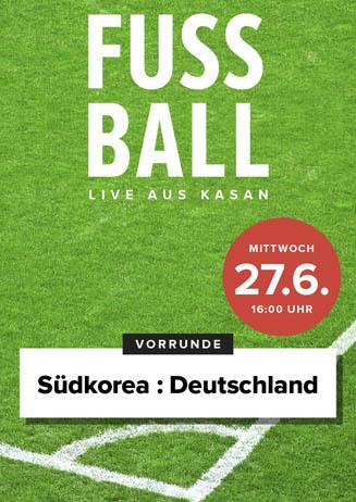 Fußball live: Südkorea-Deutschland