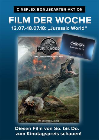 """Cineplex Bonuskarten-Aktion: """"Film der Woche"""""""