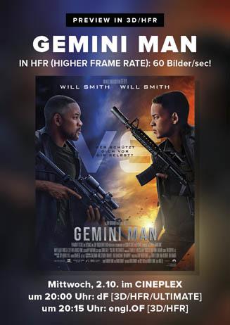 Previews: GEMINI MAN in 3D/HFR
