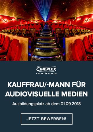 Ausbildungsplatz zur/zum Kauffrau/-mann für audiovisuelle Medien