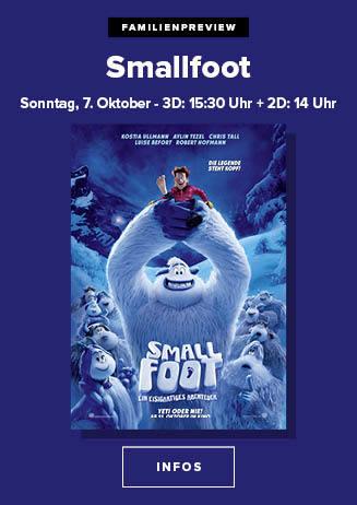 """181007 FamPrev """"Smallfoot - Ein eisigartiges Abenteuer"""""""