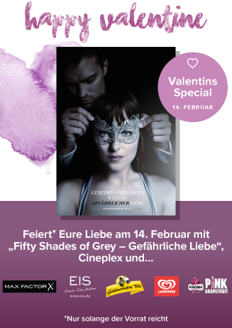 Valentinstag mit FIFTY SHADES OF GREY