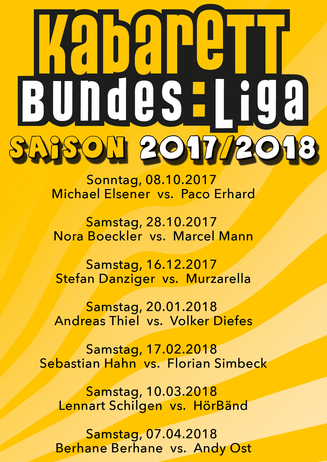 Kabarett-Bundesliga Saison 2017/18
