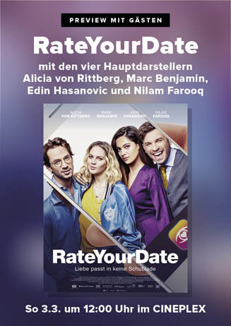 Preview mit Darstellern: RATE YOUR DATE