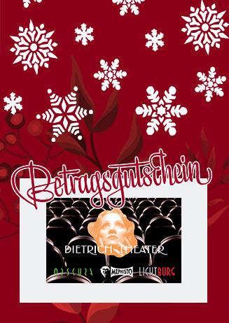 Betragsgutschein zu Weihnachten