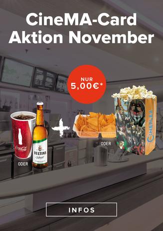 CineMA Card Aktion November