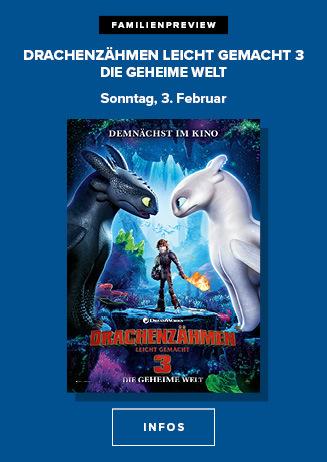 "Familienpreview: ""Drachenzähmen leicht gemacht 3"""
