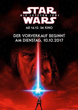 Vorverkauf: STAR WARS: DIE LETZTEN JEDI